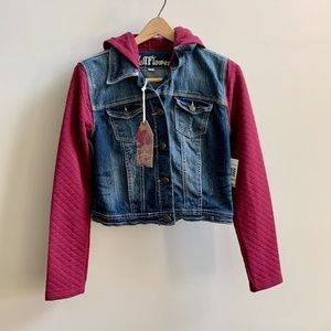 NWT Wallflower Denim Jacket with Soft Sleeves
